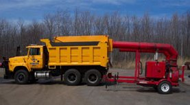 Leaf pick-up truck and equipment